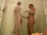 Sweet exgirlfriend slut Jessie and her cute friend taking shower