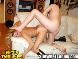 Stud Gives Wife Gina Ass to Mouth Training