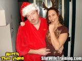Pretty Horny Ex-Wife Getting a Creampie for Christmas